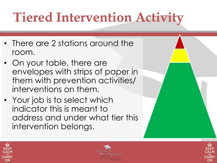Tiered Intervention Activity