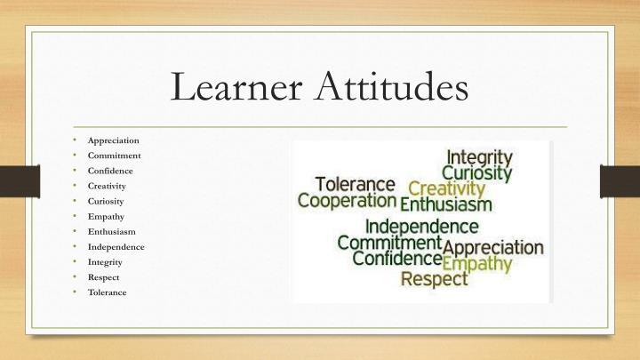Learner Attitudes