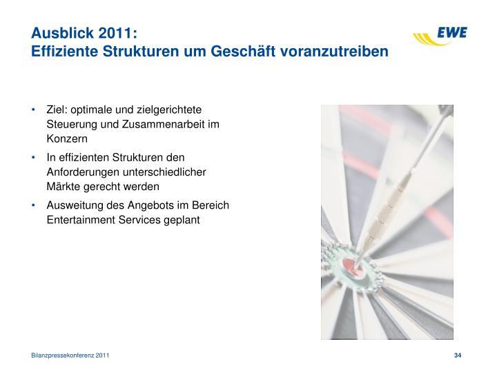Ausblick 2011: