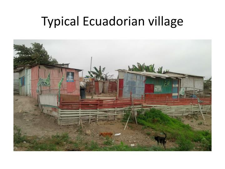 Typical Ecuadorian village