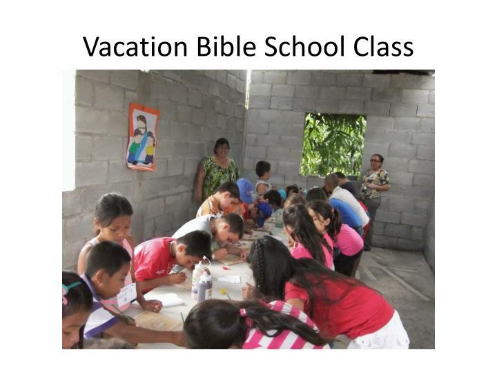 Vacation Bible School Class