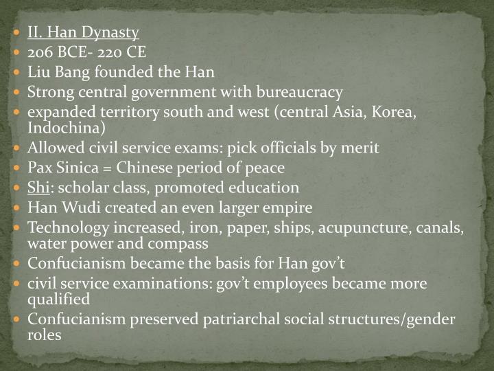 II. Han Dynasty