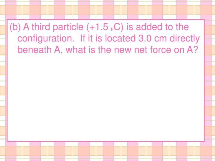 (b) A third particle (+1.5