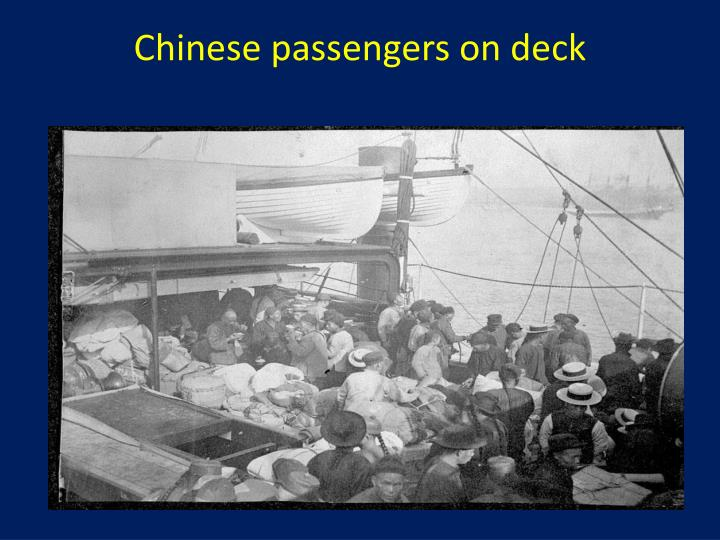 Chinese passengers on deck