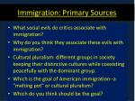 immigration primary sources