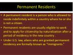 permanent residents