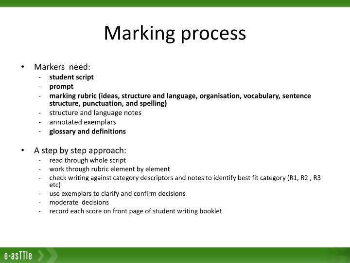 Marking process