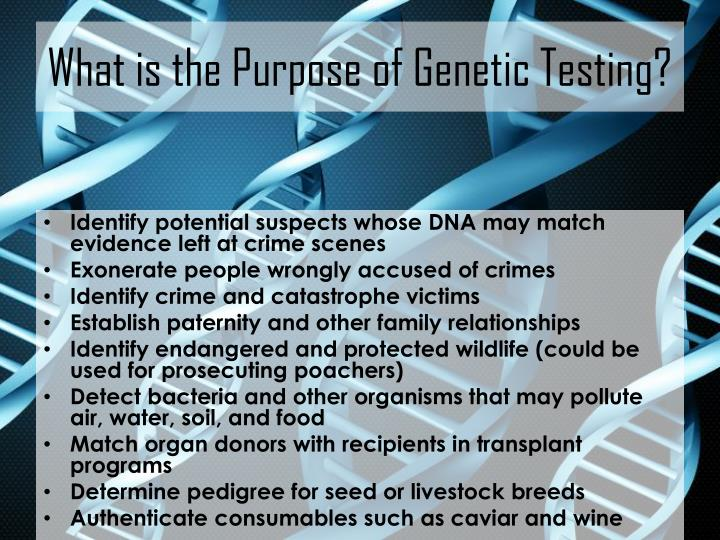 What is the Purpose of Genetic Testing?