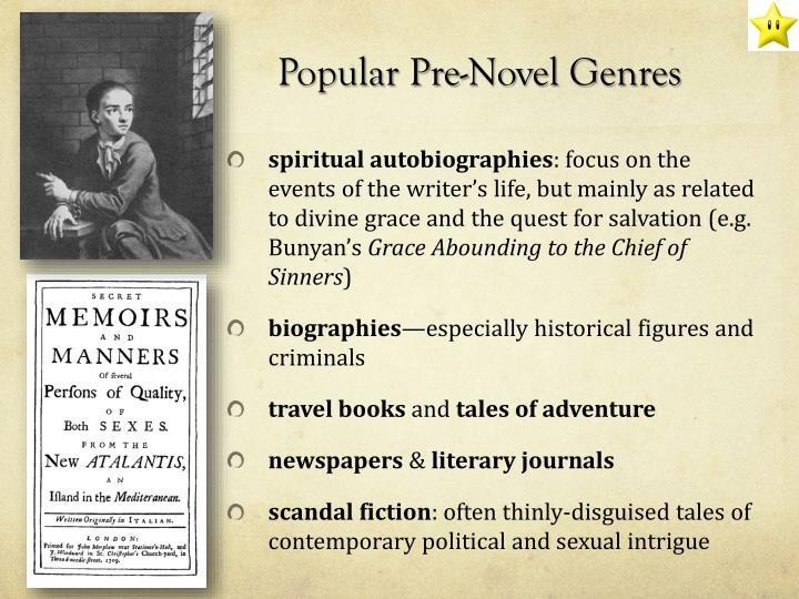 Popular Pre-Novel Genres