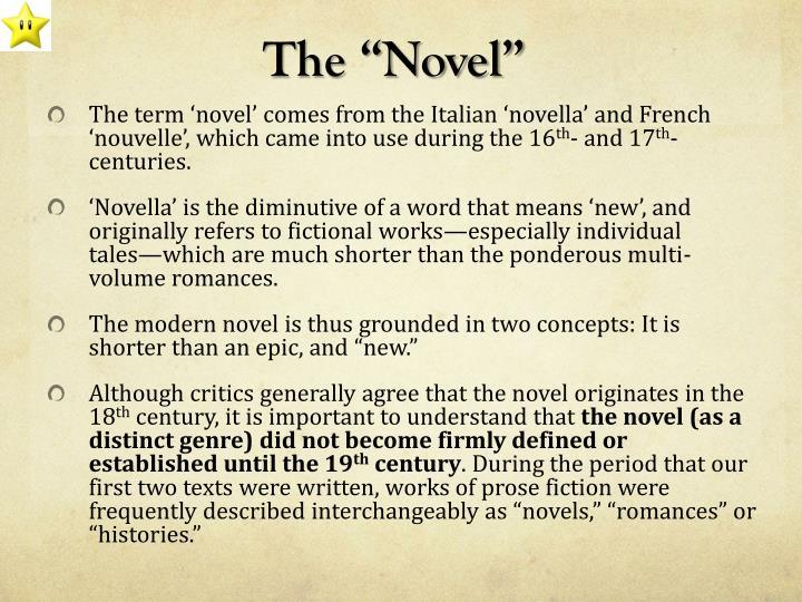 """The """"Novel"""""""
