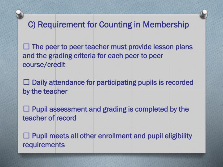C) Requirement for Counting in