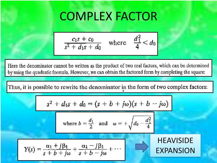 COMPLEX FACTOR