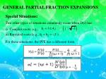 general partial fraction expansions1