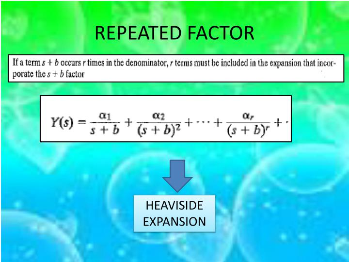 REPEATED FACTOR