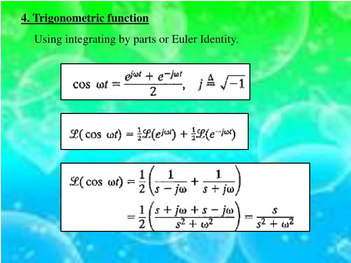4. Trigonometric function