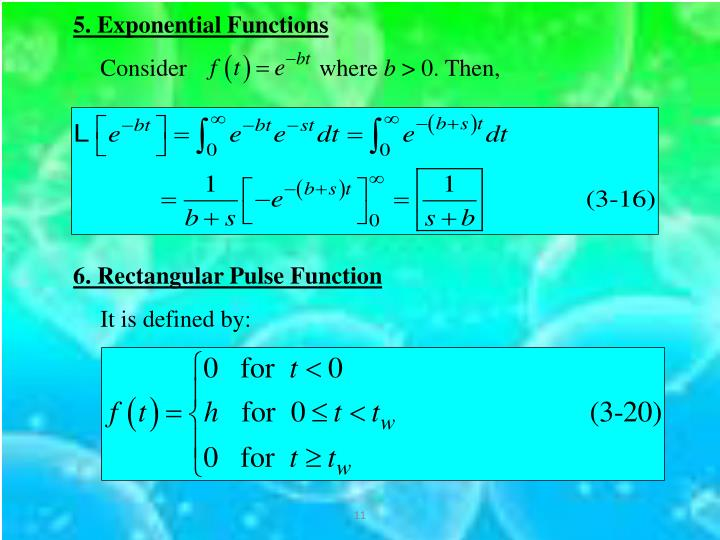 5. Exponential