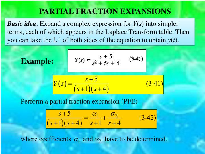 PARTIAL FRACTION EXPANSIONS