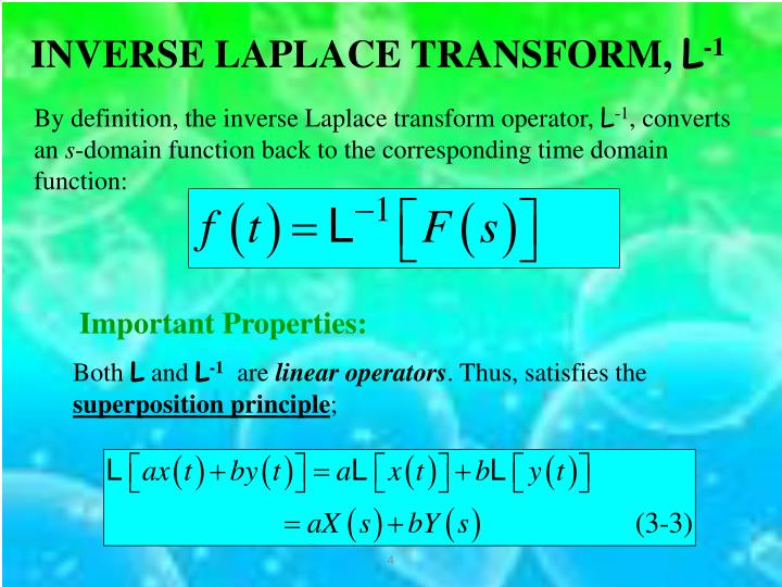 INVERSE LAPLACE TRANSFORM,