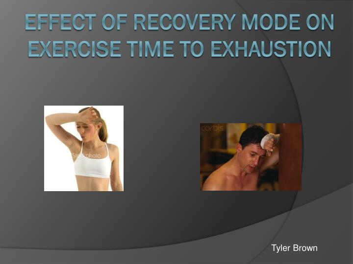 Effect of recovery mode on exercise time to exhaustion
