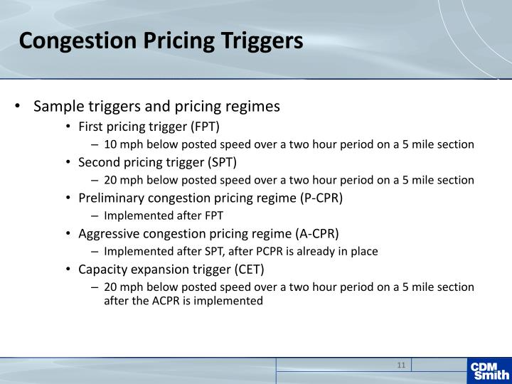 Congestion Pricing Triggers