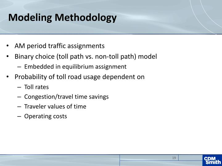 Modeling Methodology