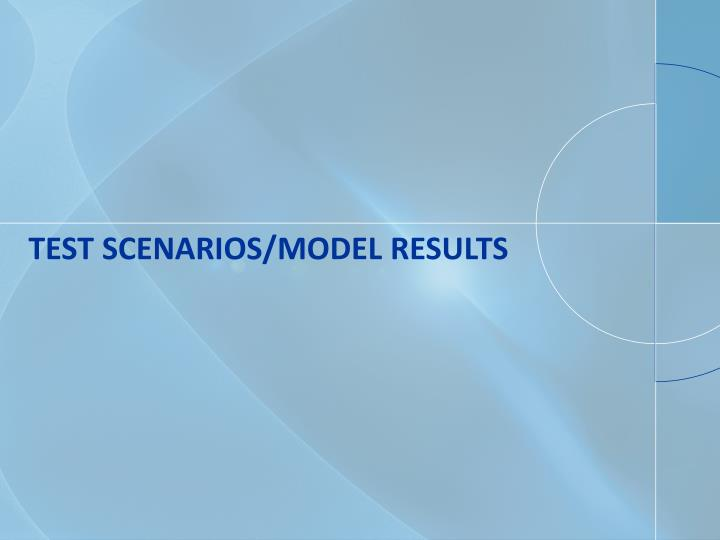 Test Scenarios/Model Results