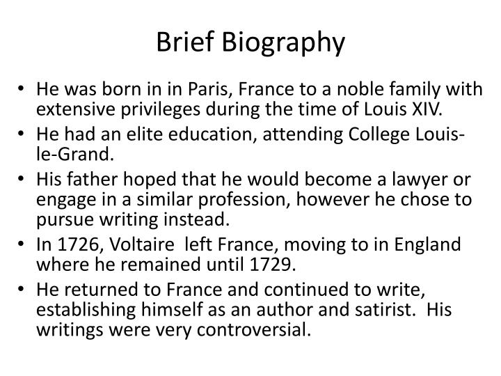 Brief Biography