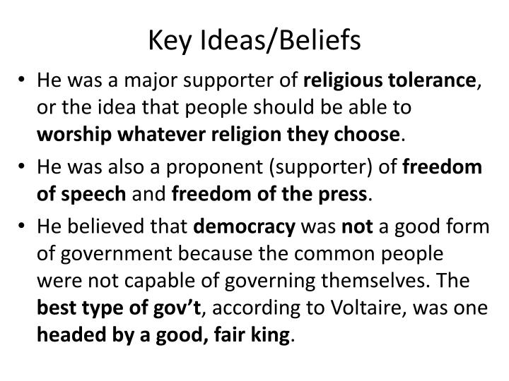 Key Ideas/Beliefs