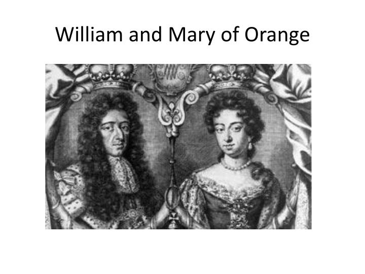 William and Mary of Orange