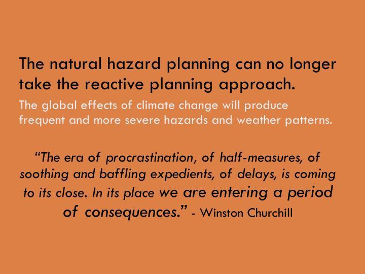 The natural hazard planning