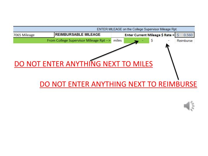 DO NOT ENTER ANYTHING NEXT TO MILES