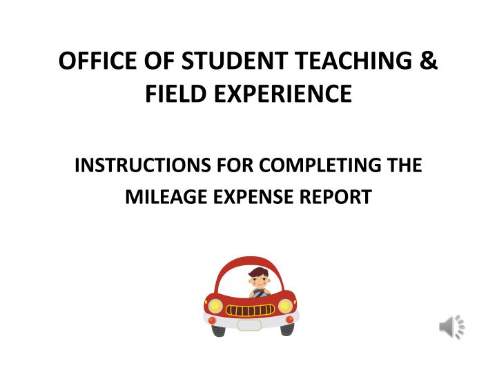Office of student teaching field experience