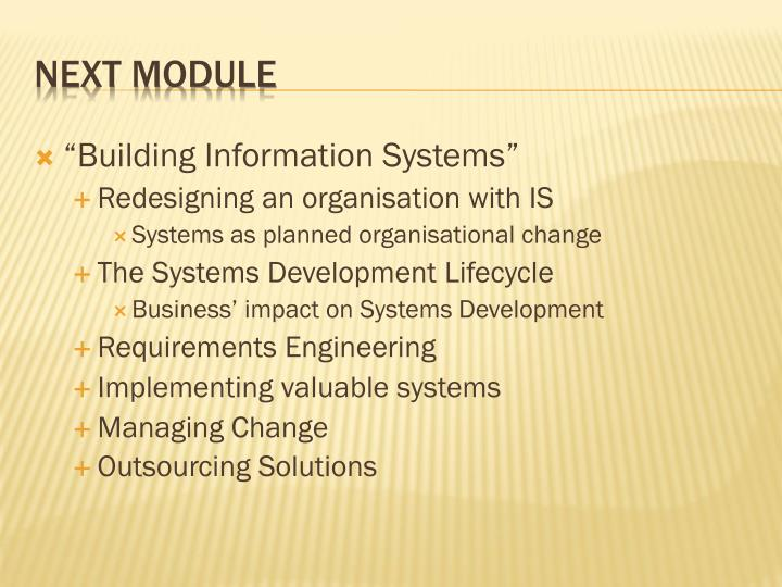 """Building Information Systems"""