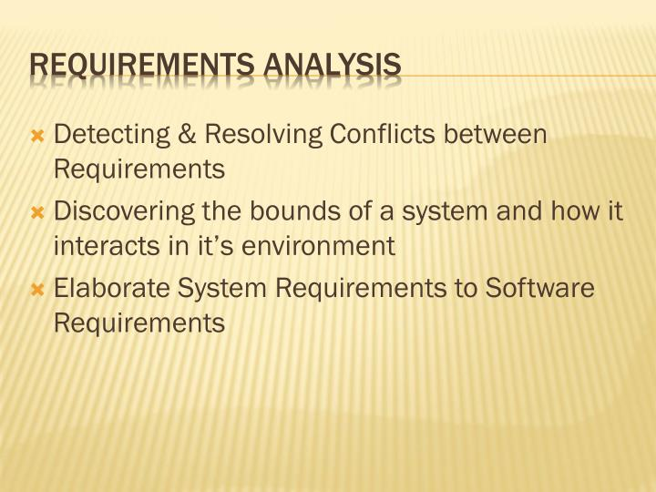 Detecting & Resolving Conflicts between Requirements