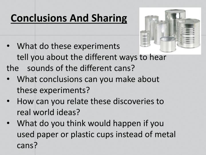 Conclusions And Sharing