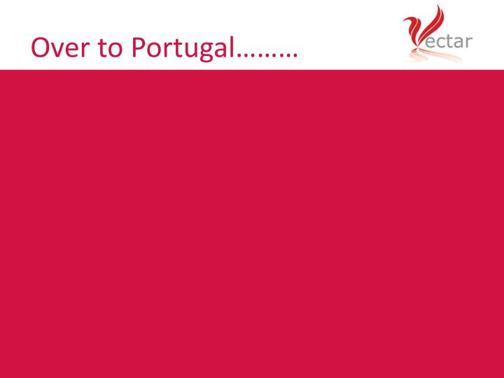 Over to Portugal………