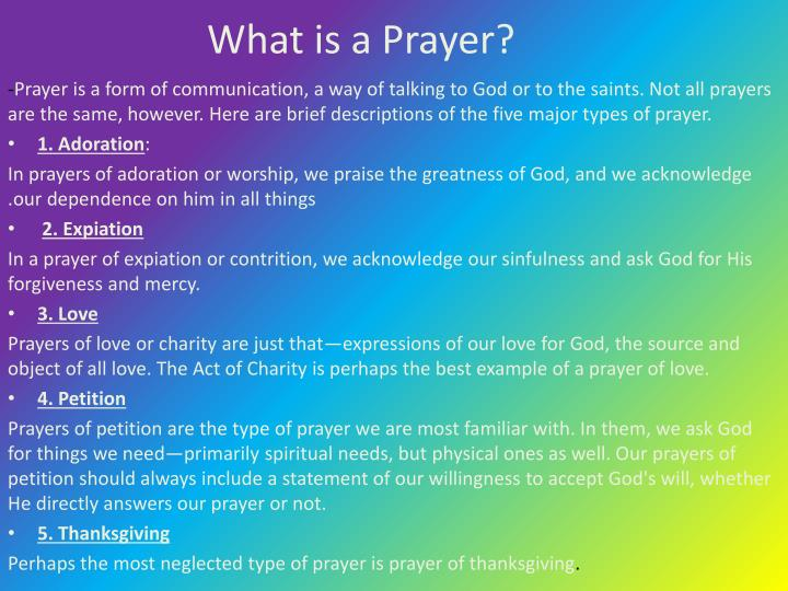 What is a Prayer?