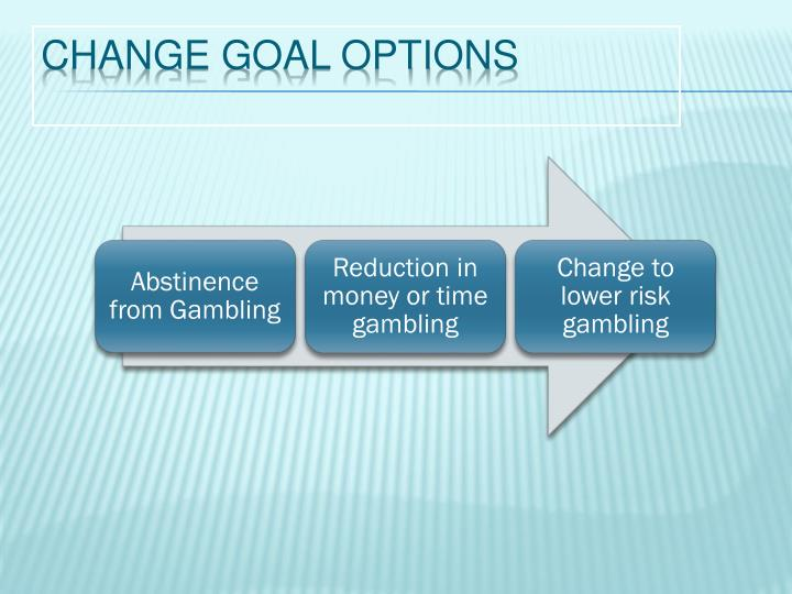 Change goal options