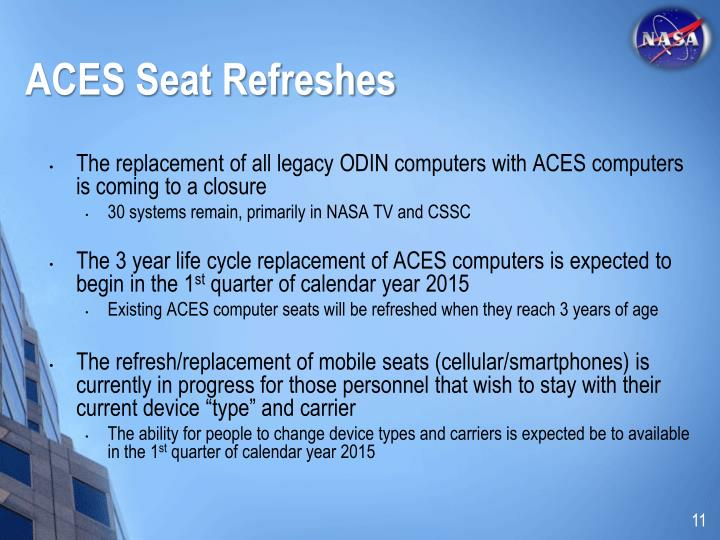 ACES Seat Refreshes