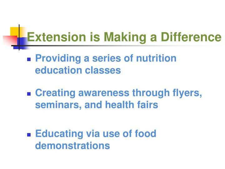 Extension is Making a Difference