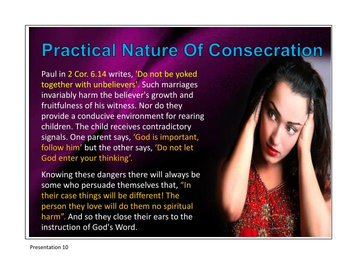 Practical Nature Of Consecration