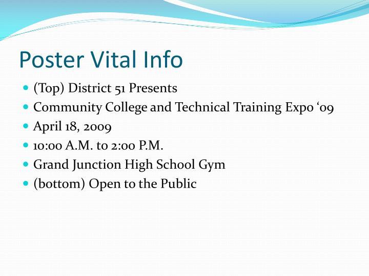 Poster Vital Info