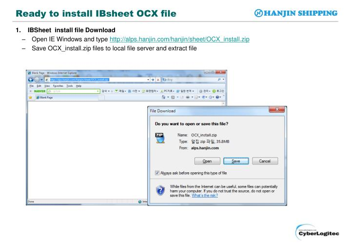 Ready to install ibsheet ocx file