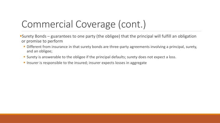 Commercial Coverage (cont.)