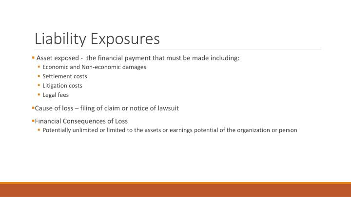Liability Exposures
