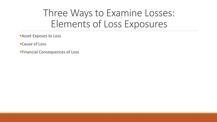 Three Ways to Examine Losses: