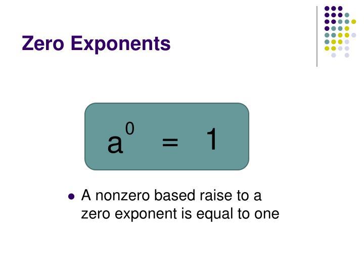 Zero Exponents
