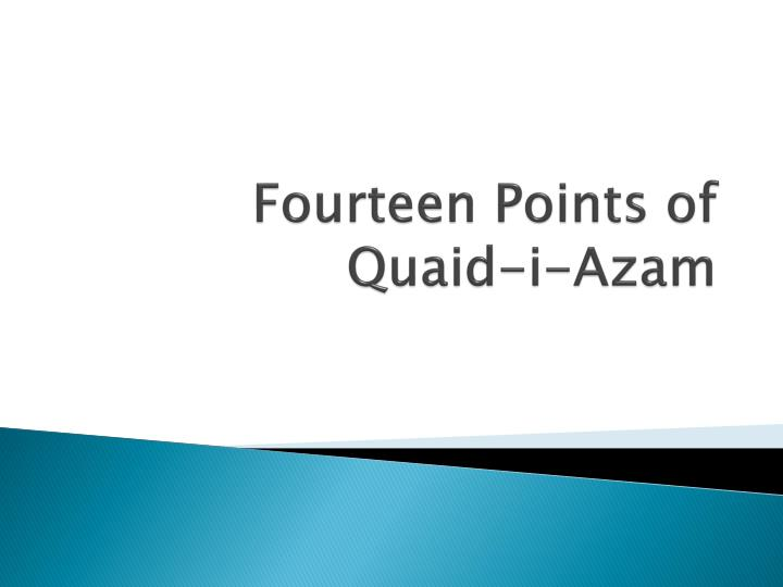 Fourteen Points of Quaid-