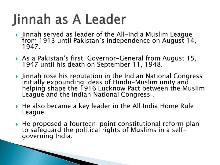 Jinnah as A Leader