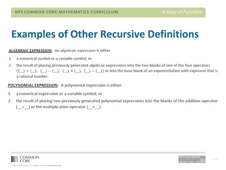 Examples of Other Recursive Definitions